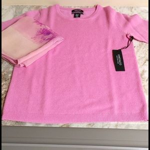 NWT's 2-Ply Pink Cashmere Short Sleeve Top